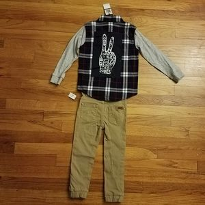 7 For All Mankind Pants & Shirt Set